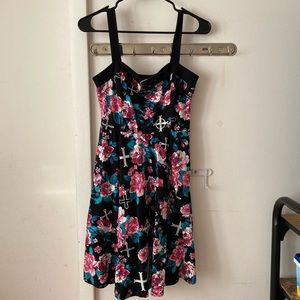 Strap dress stretchy material girl